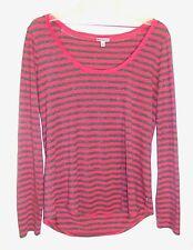 Juicy Couture Juniors Sz XL Pink/Gray Glitter Long Sleeve Shirt EUC