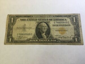 1935-A $1 NORTH AFRICA Emergency Issue Silver Certificate ~ Low Grade Note ~308