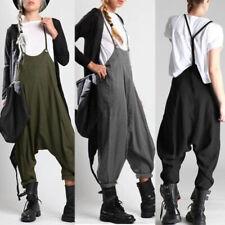ZANZEA Womens Sleeveless Straps Loose Jumpsuits Playsuits Hippie Trouser Plus