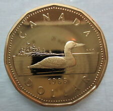 1988 CANADA LOONIE PROOF ONE DOLLAR COIN