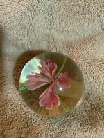 Vintage Murano Pink Flower Highly Detailed Glass Hand Blown
