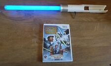 BLUE LIGHT SABER + STAR WARS THE CLONE WARS=NINTENDO Wii=LIGHTSABER