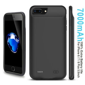 For iPhone 8 Plus/7 Plus/6S Plus/6 Plus Portable Extended Battery Case [7000mAh]