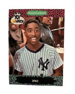 Tupac Shakur 2Pac Yo MTV Raps 1991 Proset Trading Card New York Yankees Jersey