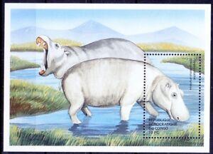 Congo 2000 MNH SS, Hippo, Wild Animals