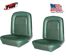 1967 Mustang Front Bucket Seat Upholstery- Pair- Turquoise by TMI - IN STOCK!!