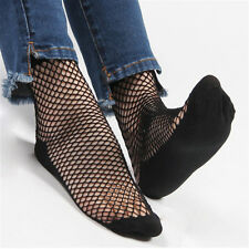 Fashion Solid Color Lace Fishnet Socks Short Socks Mesh Net Socks Ankle Socks