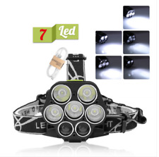 7LED 85000Lm Headlight Headlamp USB 18650 Rechargeable Torch Lamp Light