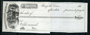 US UNUSED PROMISORY NOTE OF NORFOLK, CONNECTICUT 186? AS SHOWN