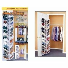 Shoes Away Hanging Organizer Organize 30 Pairs Space Closet TV Holder Over Door