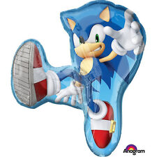 """Sonic The Hedgehog 33"""" Super Shaped Foil Balloon Birthday Party Decoration Favor"""