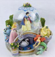 Disney Princess Musical Globe Ariel Cinderella Belle Snow White Aurora BROKEN