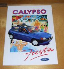 FORD FIESTA CALYPSO SALES BROCHURE April 1991 In German Ref 10 10 68