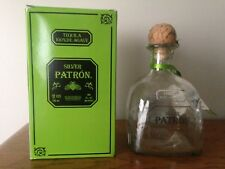 Patron Tequila SILVER  750 ML Empty Bottle with Cork & Box / EXCELLENT CONDITION