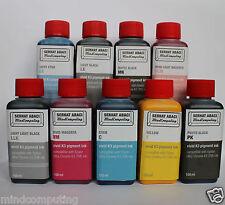 Refill 9x 100ml vivid K3 pigment ink R3000 3800 3880 R2880 R2400 Epson NON OEM