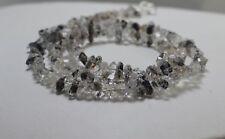"Herkimer Diamond Quartz Gemstone Point Chips Nugget Beads Jewelry Necklace 18"""