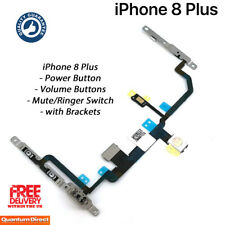NEW iPhone 8 Plus Power Volume Buttons Mute Switch Camera Flash Flex w/Brackets