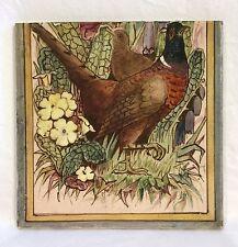 Antique Minton Stoke On Trent Hand Painted Pheasants Birds Tile