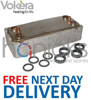 Vokera Compact 29 DHW Plate Heat Exchanger & O'Ring Seals 8037 Genuine Part NEW
