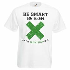 Herren Green Cross Code T-Shirt Kevin Keegan Liverpool Player Tshirt Verkehrssicherheit