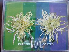 Vtg Chrysanthemum Kent Plastic Coated Playing Cards Plastic Case 1960s 2 Decks
