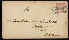 1870s Germany Stationery Envelope ~ Ringenberg Cancel