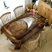Magic Mirror 3D Tablecloth Table cover Cloth Rectangle Wedding Party Banquet
