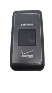 Samsung SCH-U320 U320 Verizon 3G Flip Phone Sold As Is For Parts Power Up Black