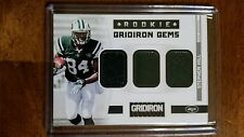 2012 Panini Gridiron Rookie Gems Trios Materials Prime #29 Stephen Hill Card