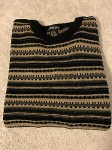 Vintage Jantzen Sweater Men's Sz L Crewneck Pullover L/S Multicolor Acrylic/soft