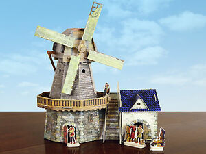 """""""Old-time windmill"""" cardboard construction set (273)"""