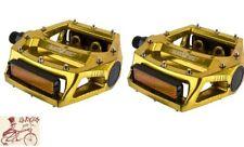 """BLACK OPS PLATFORM ALLOY ANODIZED GOLD 9/16"""" BICYCLE PEDALS"""