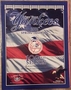 2002 NEW YORK YANKEES - SPRING TRAINING SOUVENIR PROGRAM 100TH SEASON