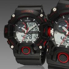 Ohsen G Sport Digital Military Water Proof Shock Calendar Men Watch Quartz Red