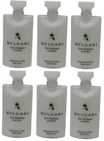 Bvlgari White Tea au the blanc Body Lotion Lot of 6 ea 2.5oz Bottles.