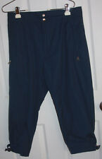 1St Down Jockey Riding Pants Breeches Small Navy Blue Polyester Cotton Blend