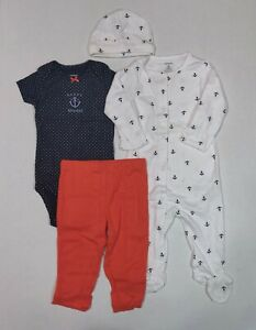Carter's 4 Piece Set For Girls Nautical Theme in 6 or 9 Months Sailing