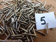 """50 Número 14 X 11/16 """"cabeza oval espiga hendida acero dulce laminado en níquel Split"""