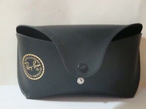 RAY BAN Black Leather Hardback Protective Case + Cleaning Cloth Brand NEW