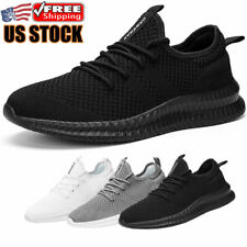 Men's Running Shoes Breathable Athletic Gym Casual Non-slip Tennis Sneakers US