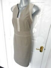 ❤ NEXT Size 14 Two Tone Beige Smart Pencil Wiggle Dress Lined NEW RRP £45 Office
