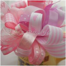 Grab a Bag Plain/Printed Baby Girl Ribbon Bundle 10 X 1 Mtr Lengths Trimmings