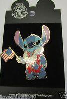 Disney Patriotic Stitch On Original Card Pin **
