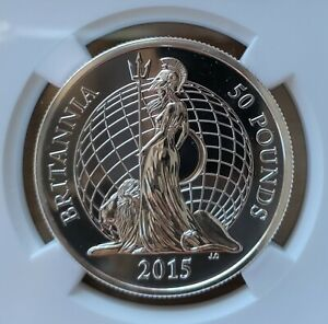 Great Britain 50 pounds 2015 NGC MS-69 DPL