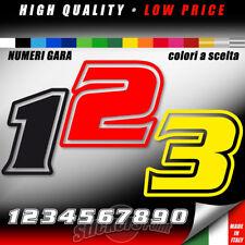 sticker adesivo NUMERO GARA colore a scelta auto moto cross carena cm 10