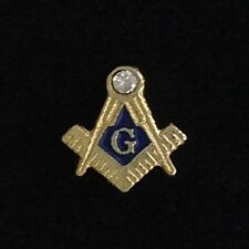 Masonic Lapel Pin with Clear Stone (MAS-10)