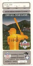 1989 MLB baseball All Star Game Ticket Stub Angels