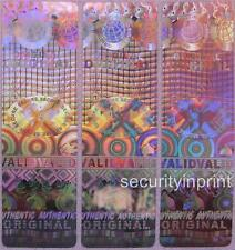 297 Globo validado Seguro Original Holograma Seguridad pegatinas Etiqueta 15x50 r1550