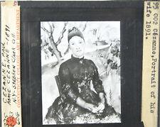 Paul Cezanne Mme. Cezanne Lantern Slide