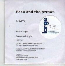 (CG986) Beau And The Arrows, Levy - 2011 DJ CD